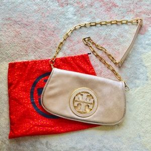 Rose Gold Tory Burch Purse/Clutch